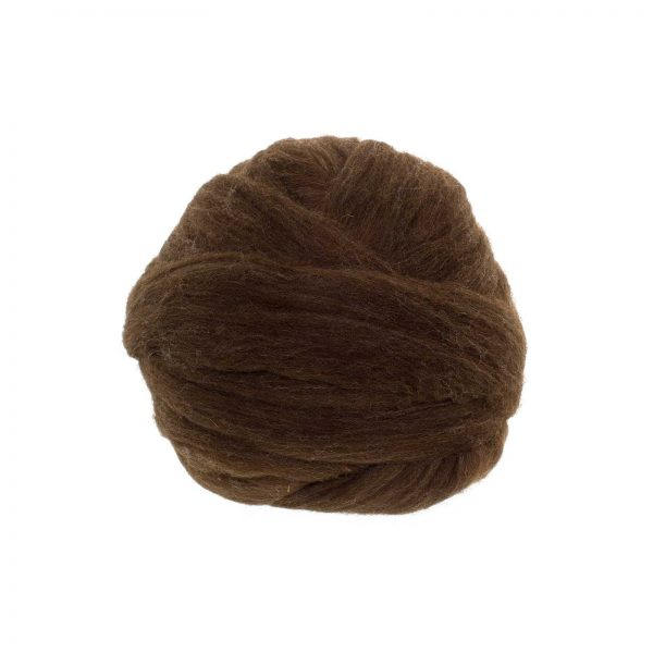Lana merino xxl peinada española marrón